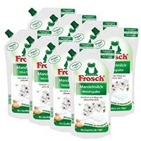8x-Frosch-Mandelmilch-Weichspüler-1-Liter---Pflegend-mit-Mandelmilch
