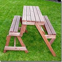 Holzbank Tisch Sitzgarnitur