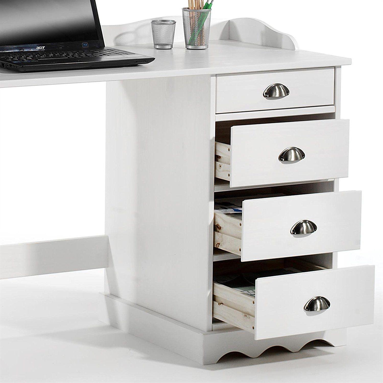 Der attraktive Schreibtisch mit Aufsatz Sandrine