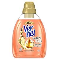 Vernel Soft & Oils Orange Weichspüler Flasche, 4er Pack