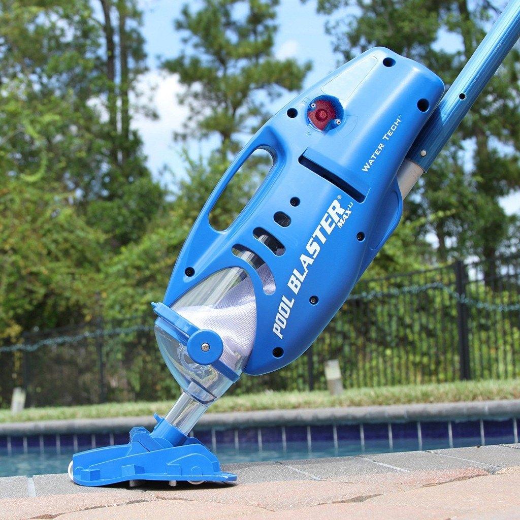 Poolroboter Akku Poolsauger von Blaster Max in blau