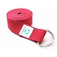 Hochwertiger Yoga-Gurt von #DoYourYoga aus 100% strapazierfähiger Baumwolle.