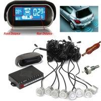 AUDEW Kit 8x 22mm Sensoren Einparkhilfe Parksensor mit einem Display Auto Parken Sensor System