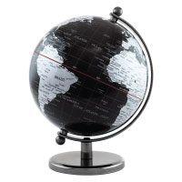 BRUBAKER Designer Globus Dark Planet Edelstahl