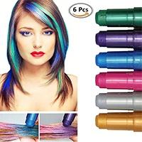 Haarkreide,-Metallische-Glitter-Temporäre-Haarkreide,-CIDBEST®-6-Farben-Tragbare-Hair-Chalk-Set,-Halloween-Sexy-Haarkreide