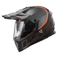 LS2 Helm Motorrad MX436 Pioneer Element, matt black Titanium