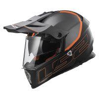 LS2 Helm Motorrad MX436 Pioneer Element, matt black Titanium