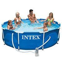 Intex Gartenpool bis 10.000 Liter Metal Frame-Pool 366 x 76 cm Frame Pool 366 x 76 cm mit Kartuschenfilter (28212) im Test
