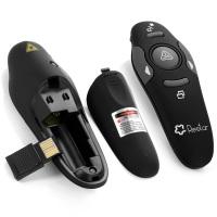 Restar LP0005 RF 2,4 GHz Wireless USB Powerpoint PPT Presenter Fernbedienung Laser-Schlag-Feder [LEBENSLANGE GARANTIE]