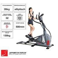 Sportstech Elite Crosstrainer CX650 Elliptical mit elliptischem Bewegungsablauf und Smartphone App Steuerung