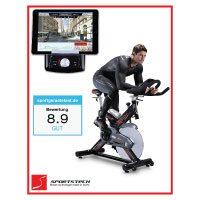 Sportstech Profi Indoor Cycle SX400 mit Smartphone App Steuerung + Google Street View
