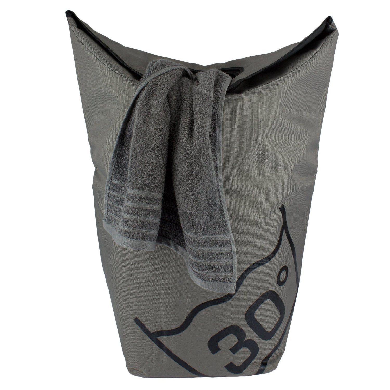 Tempracell Wäschekorb Polyester Ca. 100 L Volumen Grau 55 X 80 X27 Cm
