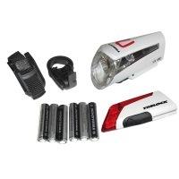 Trelock Beleuchtung LS 450/320 Kombiset FRB Bat.zl 800 Batteriefrontschweinwerfer, White, 8002283