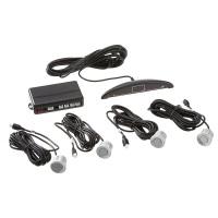 VSG R4S Einparkhilfe mit Farb-Display und eingebauten Pieper inklusiv 4 Sensoren, silber