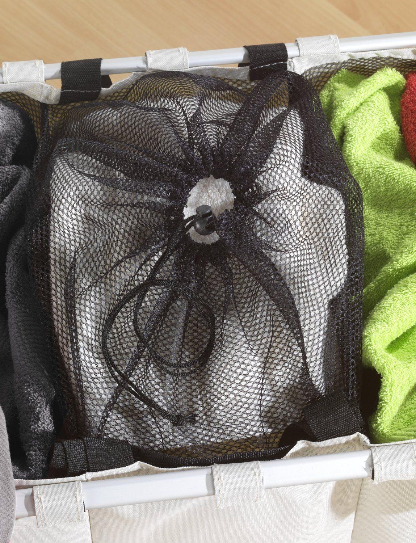 Wenko 3440113100 Wäschesammler Trio Beige Wäschekorb Fassungsvermögen 130 L 100 Polyester 63 X 57 X 38 Cm Beige 1