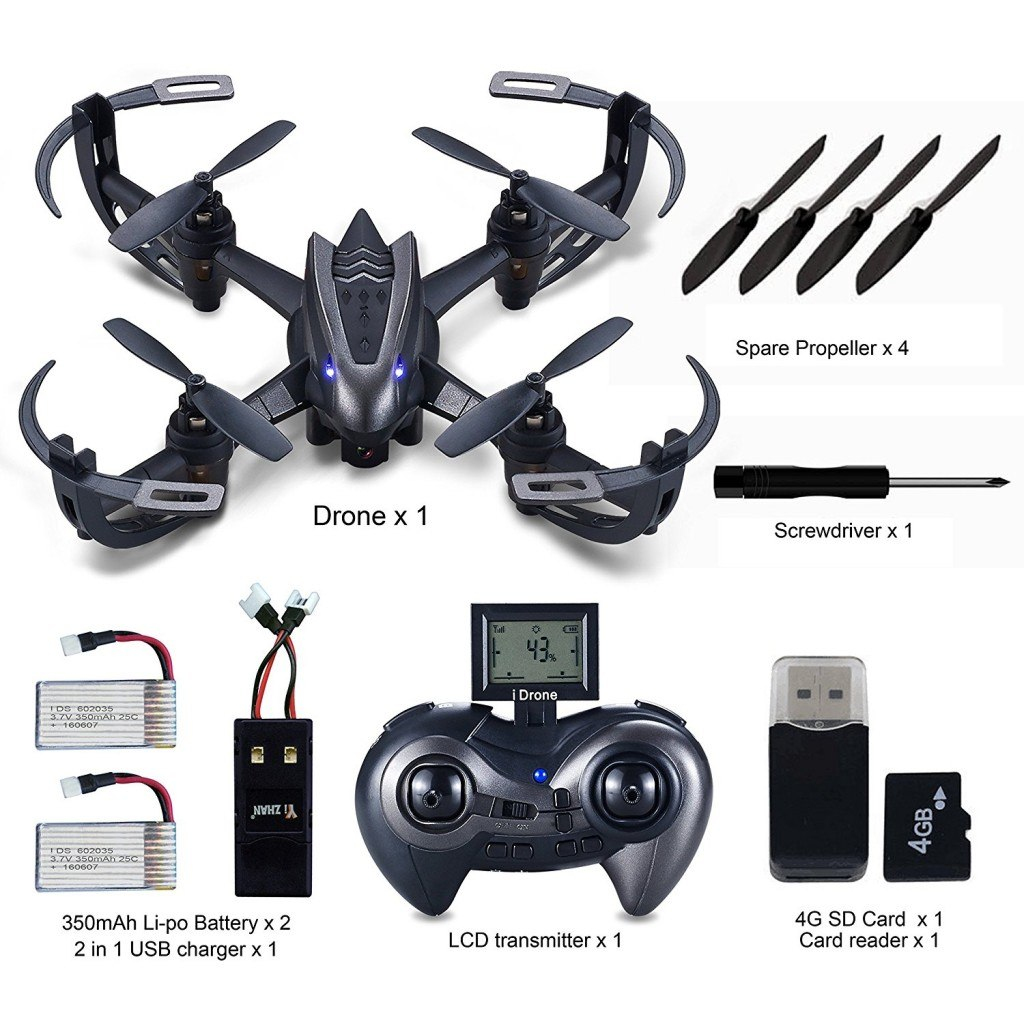 hasakee rc quadcopter drohne mit 720p hd kamera 6 achsen. Black Bedroom Furniture Sets. Home Design Ideas