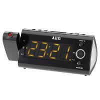 AEG MRC Uhrenradio mit Projektor (11 cm (4,3 Zoll) LED Display, MW/UKW-Tuner)