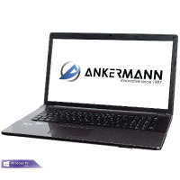 Ankermann-PC ., Microsoft Windows 10 Professional, i5-6300HQ 2,30Ghz, DVD Writer, 8GB RAM, 275GB SSD, EAN 4260409326446