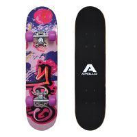 Apollo-Skateboard,-kleines-Komplett-Board-mit-ABEC-3-Kugellager,-Aluminium-Achsen,-verschiedene-Designs---für-Kinder-und-Teenager