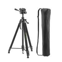 Cullmann ALPHA 3800 Dreibeinstativ mit Kurbelsäule, 3-Wege-Kopf und Kameraschnellkupplungs-System schwarz