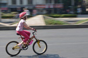 Fahrrad-Maedchen
