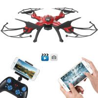 GOOLRC T5W Drone Wifi FPV Live Übertragung 0.3MP Kamera RC Quadrocopter mit Home-Return Headless-Modus 360 ° Flips Funktion
