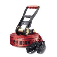 Gibbon Slacklines Classic Line RED mit Tree Wear, Rot, 15 Meter, 12,5m Band + 2,5m Ratschenband