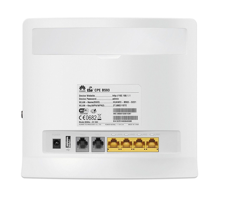 Huawei B593s-22 4G LTE 150Mbps Mobilfunkrouter mit WLAN LAN