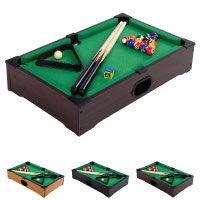 Mini Pool Billardtisch inkl. Zubehör (2 Queues, Kugeln, Dreieck, Kreide)