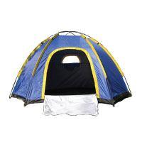 OUTAD 3-4 Personen Wasserdichte Zelt Hexagonal Große Camping Wandern Zelt mit Tragetasche Blau