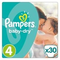 Pampers Baby-Dry Gr. 4,8-16kg, 30 Windeln, 4er Pack (4 x 30 Stück), 1 Packung = 1 Impfdosis