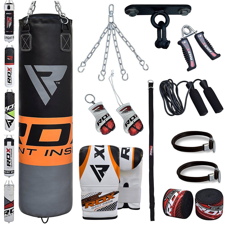 Boxsäcke im Test: RDX 13PC Leder Boxen MMA Sack 4FT 5FT Boxsack Set