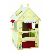 Roba Spielhaus-Kombination, Rollenspiel Haus für Kinder, verwendbar als Kaufladen, Kasperletheater, Tafel