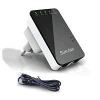 SUNJAS Router 5in1 Repeater Verstärker Wifi Wlan Lan 300 Mbit WPS Client Mini