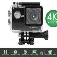 """TEC.BEAN 4K Action Kamera - 2.0"""" FHD LCD Display – wasserdicht mit WLAN- Batterien und Accessoires inklusive"""