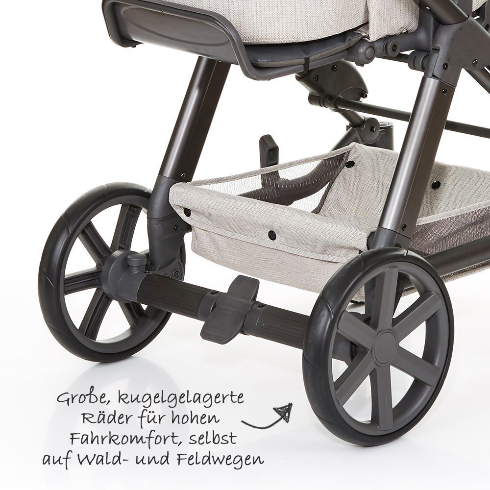 ABC Design Kombi-Kinderwagen Set Turbo 4 - inkl. 3in1