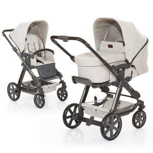 ABC Design Kombi-Kinderwagen Set Turbo 4 - inkl. 3in1 Tragewanne für Neugeborene