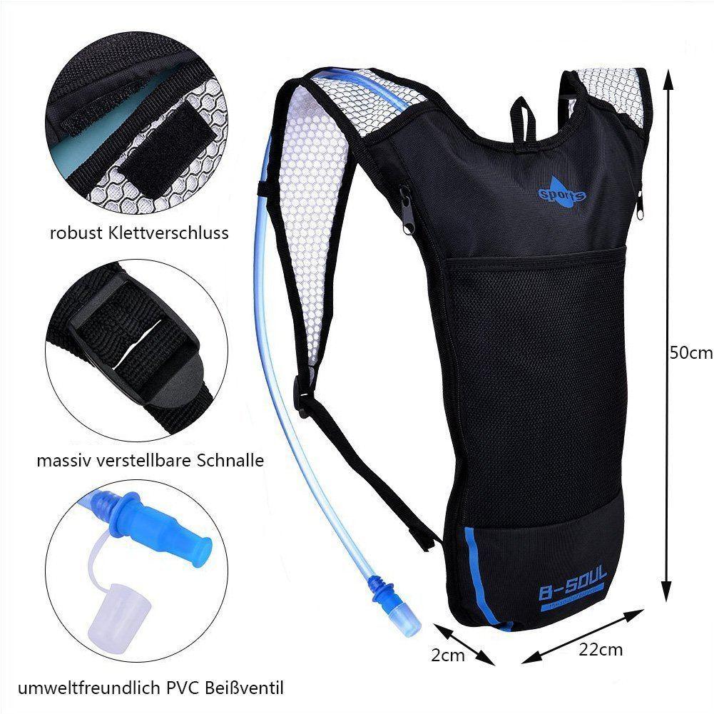 Alando Wasserdichter Trinkrucksack Fahrradrucksack Mit 3L Trinkblase Ideal Für Radsport Laufen Joggen Wandern Motorad Camping