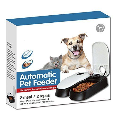 Automatischer Futterautomat Futterspender Mit Ice Pack F%C3%BCr Haustiere Hunde Und Katze 2 Mahlzeiten 2 X 300 Ml