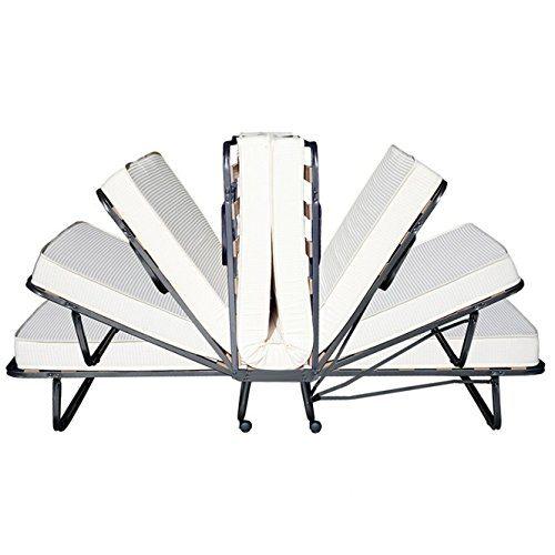 Beautissu® Gästebett Klappbar Venetia 90x200 Cm Stabiler Metall Rahmen Klapp Bett Inkl. Matratze Und Schutzhülle 2