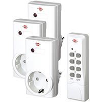 Brennenstuhl-Funkschalt-Set-RCS-1000-N-Comfort,-3er-Funksteckdosen-Set-(mit-Handsender-und-Kindersicherung)