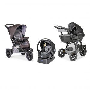 Chicco Trio-System Activ3 Top Kit Car mit Babyschale AutoFix Fast