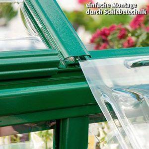 Gewächshaus Green Line 6 x 10 inkl. Stahlfundament Montage