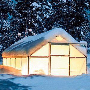 Gewächshaus Silver Line 6 x 4 inkl. Stahlfundament Winter