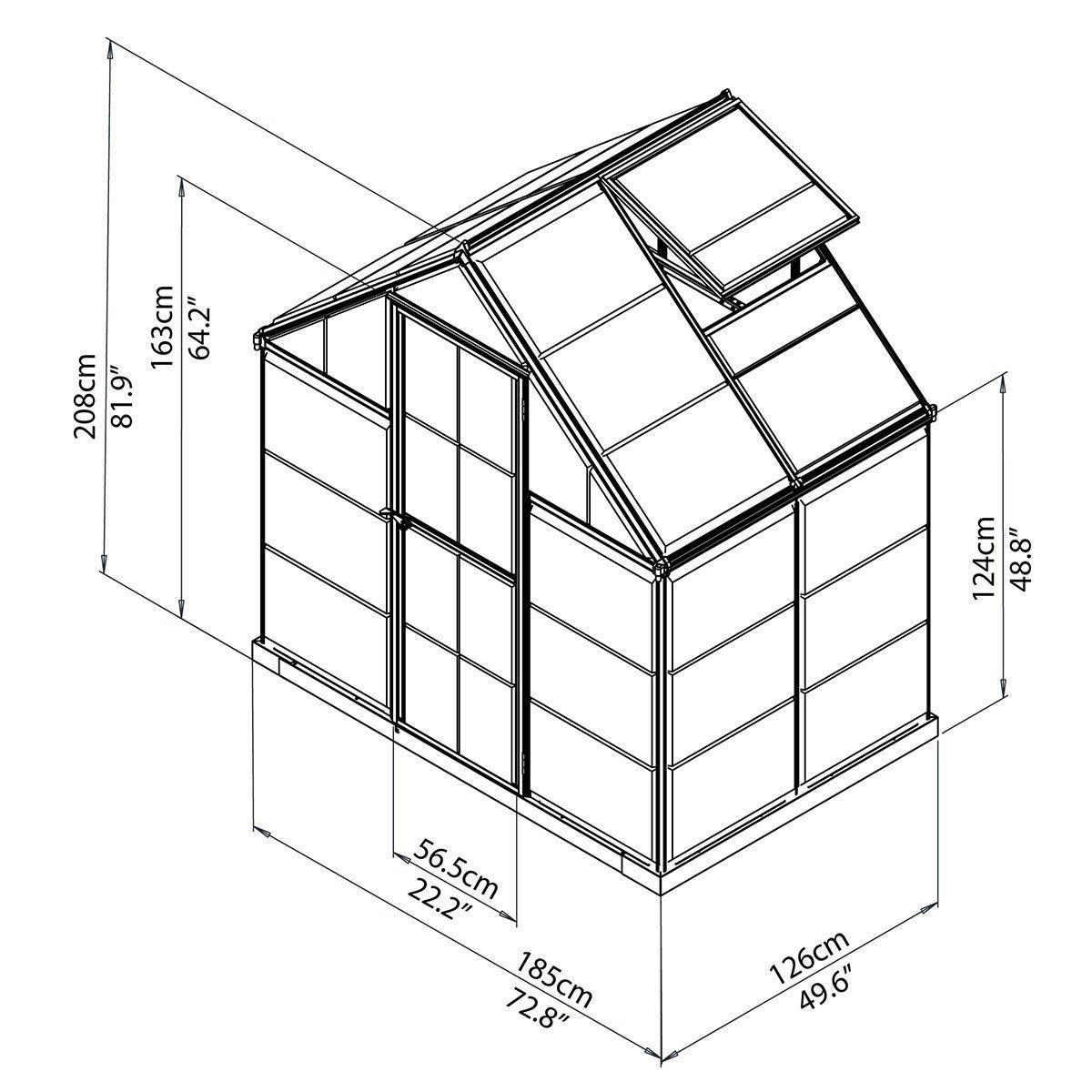 g rtner p tschke gew chshaus silver line 6x4 inkl stahlfundament expertentesten. Black Bedroom Furniture Sets. Home Design Ideas
