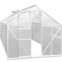 Gewächshaus Alu 11,38m² 250x280x195cm Treibhaus Frühbeet Pflanzenhaus Tomatenhaus Pflanzenhaus