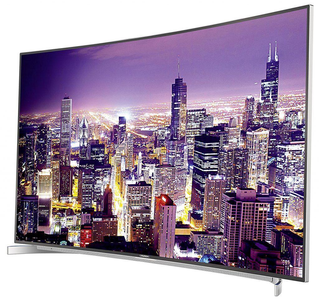 Grundig Fine Arts FLX 9591 SP 139 Cm 55 Zoll Curved Fernseher Ultra HD Triple Tuner 3D Smart TV