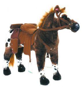 Happy People 58937 - Cowboypferd Anglo-Araber, mit Sound, Tragkraft ca. 100 kg