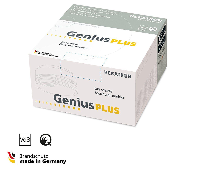 Rauchmelder Genius Plus X1 von Hekatron in der Verpackung