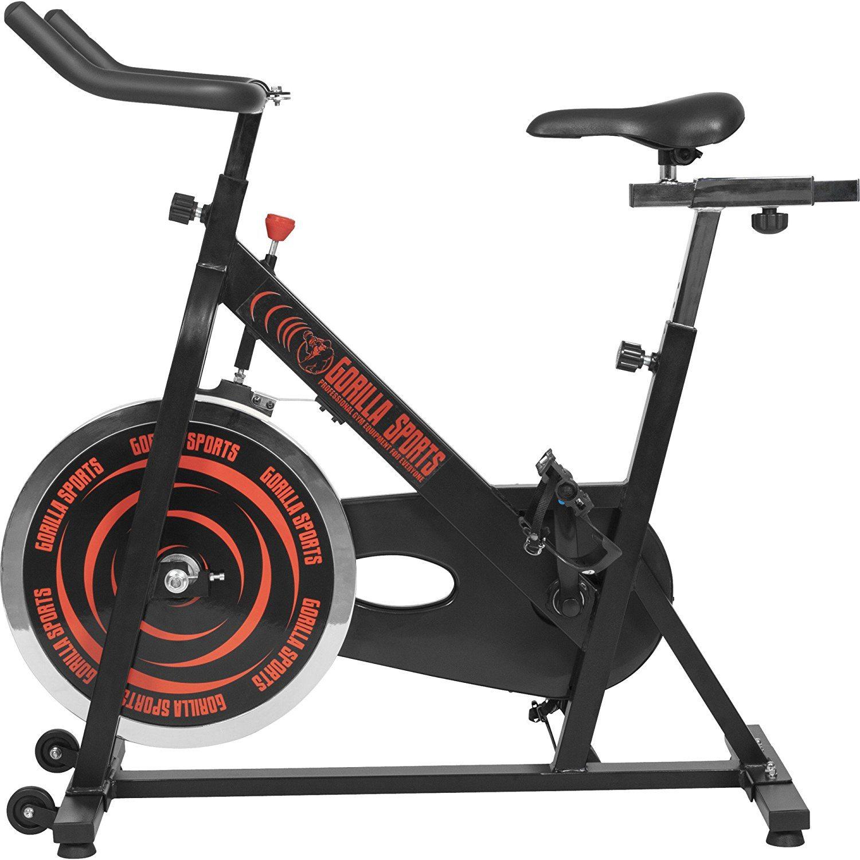 Indoor Cycling Fahrrad Spinning Bike von der Seite